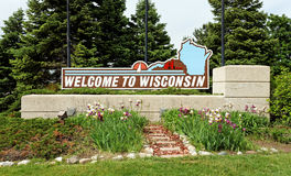 Willkommen zu Wisconsin Stockbild