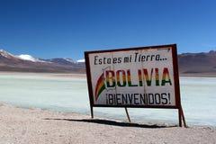 Willkommen zum Bolivien-Zeichen Lizenzfreie Stockfotos