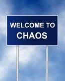 Willkommen zum Chaos Lizenzfreie Stockfotografie