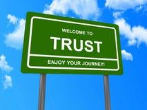 Willkommen, zum des Zeichens zu vertrauen Stockbilder