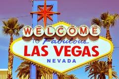 Willkommen zum fabelhaften Las- Vegaszeichen Stockbilder