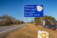 Willkommen zum Georgia-Zeichen Stockbild