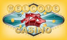 Willkommen zum Kasino Stockfoto