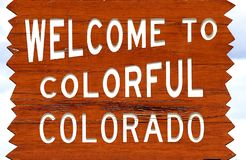 Willkommen zum Kolorado-Zeichen lizenzfreies stockbild