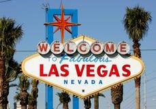 Willkommen zum Las- Vegaszeichen Lizenzfreie Stockfotos