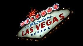 Willkommen zum Las- Vegaszeichen stock video footage