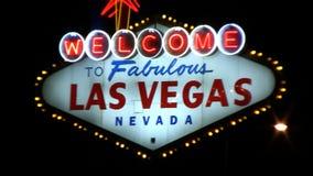 Willkommen zum Las- Vegaszeichen stock footage
