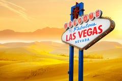 Willkommen zum Las- Vegaszeichen Stockfotografie