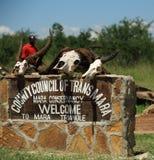 Willkommen zum Mara-Dreieckzeichen Stockfotografie