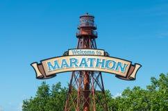 Willkommen zum Marathon, Florida stockbilder
