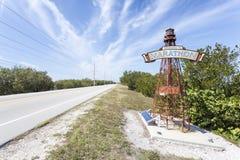 Willkommen zum Marathon-Schlüssel-Leuchtturm, Florida Stockbild