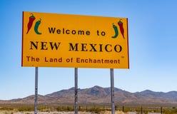 Willkommen zum Mexiko-Zeichen Stockbild