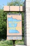 Willkommen zum Minnesota-Zeichen Stockfotografie