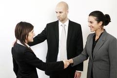 Willkommen zum neuen Job Lizenzfreies Stockfoto