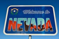 Willkommen zum Nevada-Zeichen Stockbilder