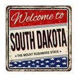 Willkommen zum rostigen Metallschild South- Dakotaweinlese Lizenzfreies Stockfoto