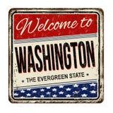 Willkommen zum rostigen Metallschild Washington-Weinlese Lizenzfreie Stockbilder