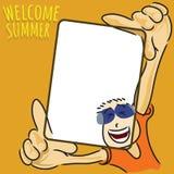 Willkommen zum Sommer mit mir Lizenzfreie Stockbilder