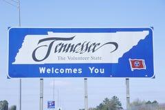 Willkommen zum Tennessee-Zeichen Stockfoto
