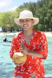 Willkommen zum tropischen Strand Stockfotos
