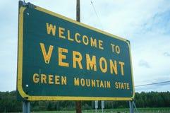 Willkommen zum Vermont-Zeichen Stockfotos
