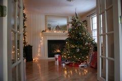 Willkommen zum Weihnachten Stockfoto