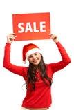 Willkommen zum Weihnachtsverkauf Stockbild