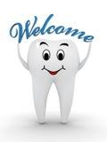 Willkommen zum Zahnarzt Stockbilder
