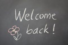 Willkommen zurück Lizenzfreies Stockfoto