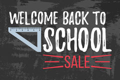 Willkommen zurück zu dem Schulverkauf typografisch Stockbild
