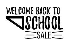 Willkommen zurück zu dem Schulverkauf typografisch Stockfotos