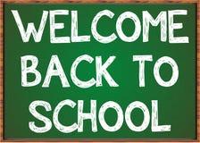 Willkommen zurück zu Schule Stockfoto