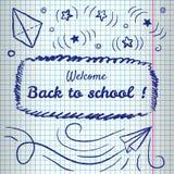 Willkommen zurück zu Schulhintergrund lizenzfreie abbildung