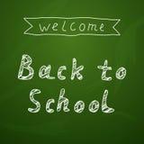 Willkommen zurück zu Schulhintergrund auf Tafel Lizenzfreie Stockbilder