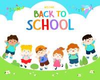 Willkommen zurück zu Schulillustration Lizenzfreie Stockfotos