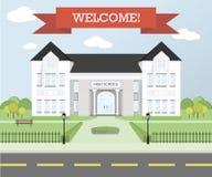 Willkommen zurück zu Schulthema, Bildungskonzept Lizenzfreie Stockfotografie