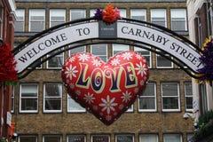 Willkommen zur carnaby Straße Stockbilder