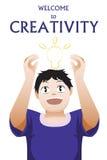 Willkommen zur Kreativität Stockfoto
