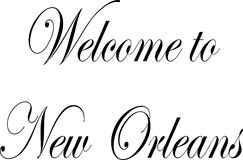 Willkommen zur New- Orleanstextillustration Lizenzfreie Stockfotografie