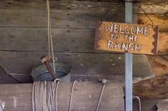 Willkommen zur Ranch stockfoto