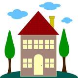 Willkommene neues Haus-Gruß-Karte Lizenzfreies Stockbild
