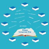 Willkommene Wortwolke in den verschiedenen Sprachen Sprachtag Lizenzfreie Stockbilder