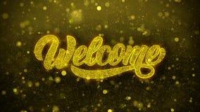 Willkommene Wunsch-Gru?karte, Einladung, Feier-Feuerwerk lizenzfreie abbildung