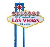 Willkommenes Las Vegas-Zeichen lizenzfreies stockbild