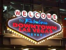Willkommenes Las Vegas-Zeichen Lizenzfreies Stockfoto