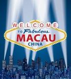 Willkommenes Macau vektor abbildung