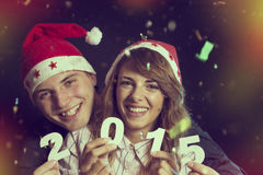 Willkommenes neues 2015 Stockbilder