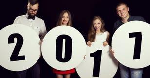 Willkommenes neues 2017 Lizenzfreie Stockfotografie