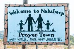 Willkommensschildbrett in Nababeep Lizenzfreie Stockfotos