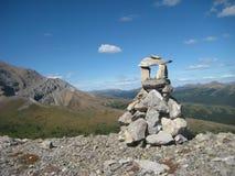 Willmore Rocks. Taken on top of an unnamed Ridge in Willmore Wildlands, Alberta, Canada stock photo